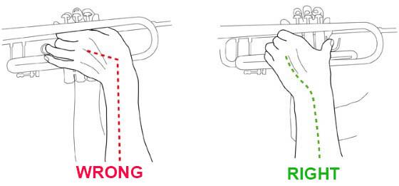 trumpet holding posture