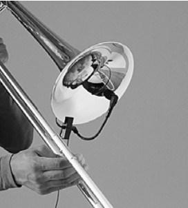shure beta 98 trombone placement
